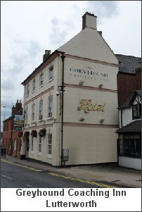 Photograph: The Greyhound Coaching Inn, Lutterworth.